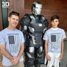 3d printable suit iron man mark iii armor war machine model mk
