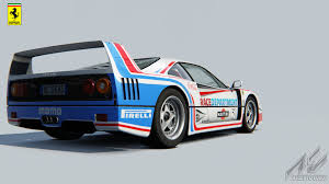 martini racing ferrari ferrari f40 rd skin racedepartment