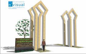 desain gapura ruang tamu skecth design sketch s blog