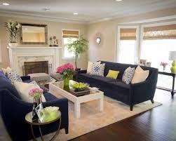 Living Room Blue Sofa Accent And Pillow Ideas For A Cool Contemporary Home Navy