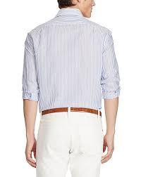 light blue striped polo dress polo ralph lauren striped linen cotton shirt mens clothing light