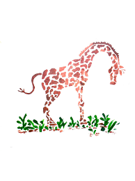 Girls Bedroom Stencils Wall Stencil Giraffe Wall Art Kids Rooms Decorate Bedrooms