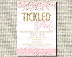 pink and gold baby shower invitations pink baby shower etsy