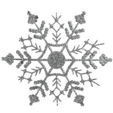 club pack of 24 silver splendor glitter snowflake