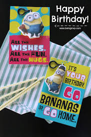 being mvp happy happy birthday with hallmark minions kids