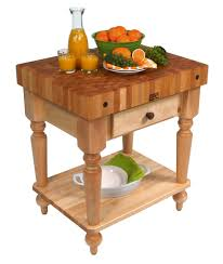 authentic butcher blocks john boos traditional boos maple rustica butcher block with solid shelf 30