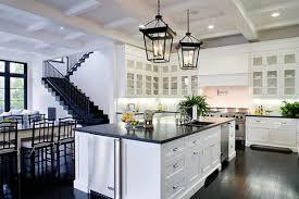 kitchen black white and grey backsplash blue and white kitchen
