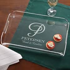 monogrammed serving platters personalized serving tray family monogram