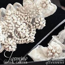 Wedding Garters Couture Bridal Garters Jeweled Bridal Garters By Luxurious