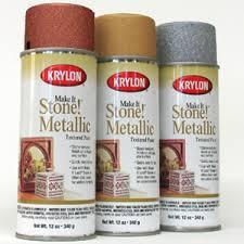 Krylon Textured Spray Paint - make it stone metallic textured spray paint karlyn u0027s gallery
