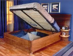 end opening diy storage bed