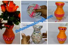 Best Out Of Waste Flower Vase Handmade Flower Vase From Plastic Bottle The Handmade Crafts