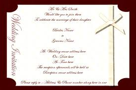 Sample Invitation Card For Wedding Wedding Invitation Cards Samples Free Download Iidaemilia Com