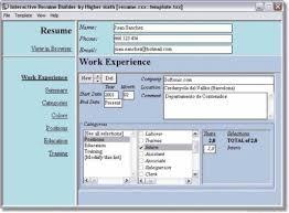 Simple Resume Creator by Interactive Resume Builder 35285 Plgsa Org
