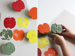 Fun Fall Kids Crafts - fall kids craft apple stamping little peanut magazine