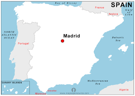 spain on a map free spain capital map capital map of spain open source