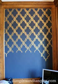 paint an accent panel wall dimples and tangles