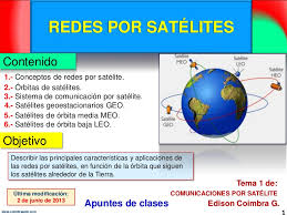 imagenes satelitales caracteristicas redes por satélites