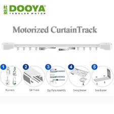 Motorized Curtain Track System Original Dooya High Quality Automatic Electric Curtain Track For