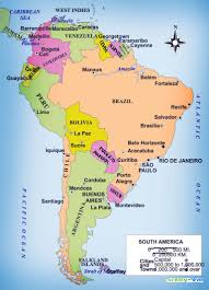 Cuba South America Map by Map Of South America