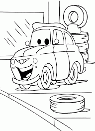 cars print kids coloring