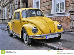 old volkswagen yellow yellow old car stock image image of revival fasioned 17576641
