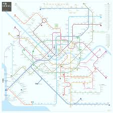 Dubai Metro Map by Asia Train Rail Maps