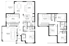 mansion layouts plan house modern floor plans awesome small 2 story 3d