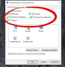 comment remettre l icone corbeille sur le bureau restaurer les icônes du bureau dans windows 7 8 ou 10