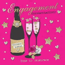 congratulations on engagement card pink chagne time to celebrate engagement card karenza paperie