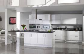 Shaker Style White Kitchen Cabinets White Gloss Kitchen Cabinets Home Design Ideas
