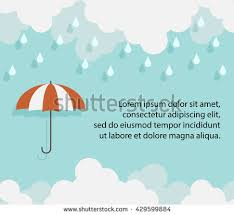 happy monsoon season background template cloud stock vector