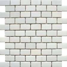 for kitchen backsplash a matt white natural stone mosaic tile in a