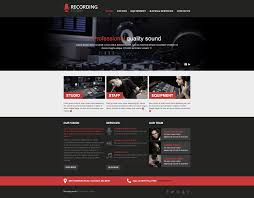 recording studio website templates