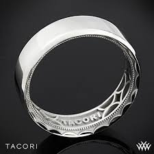 Tacori Wedding Rings by 7mm 18k White Gold Tacori Sculpted Crescent 3 Sided Eternity