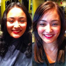 redlands hair stylist black hair color lifted to warm dark brown