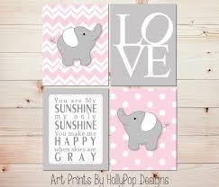 pink gray nursery art elephant nursery prints pink nursery zoom