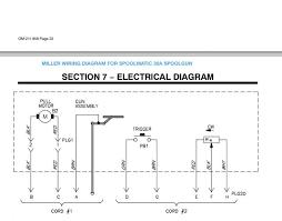 spoolmatic 30a gun pinout diagram illustration miller welding