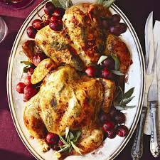 spatchcock roast chicken with grapes recipe chatelaine