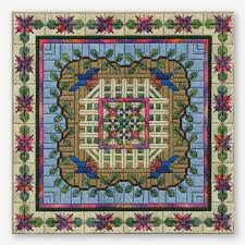 10 cool needlepoint patterns inspired by gardens
