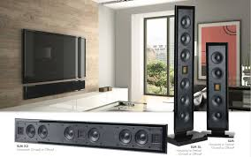 in wall home theater speakers martinlogan ultra slim motion series premium compact home