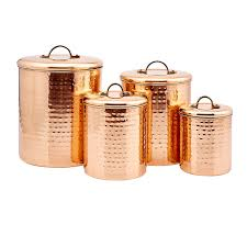 Silver Kitchen Canisters by Amazon Com 4 Piece Décor Copper