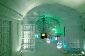 Hotel De Glace hôtel de glace unveils 2016 design made of 500 tons of ice and