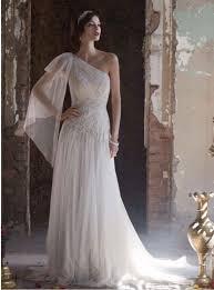 One Shoulder Wedding Dress One Shoulder Greek Style Wedding Dress Wedding Dresses Dressesss