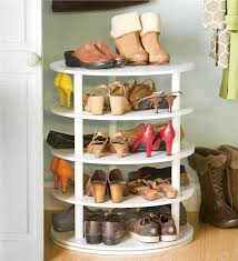 Build A Shoe Storage Bench by Remodelaholic Rotating Shoe Rack Building Plan