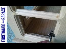 how to route a molding and the cabinet glass rabbet youtube
