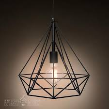 Hang Light From Ceiling Metal Wire Pendant L Diy Vintage Iron Cage Hanging Light With