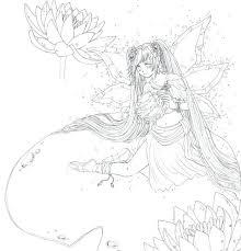 bleach manga coloring pages mermaid fairy colouring manga
