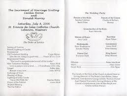 Catholic Mass Wedding Programs Don And Cecilia U0027s Wedding July 8 2006