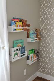 tidy books bookcase white ikea spice racks painted white for a library nursery
